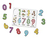 Enlarge toy image: Melissa & Doug See-Inside Numbers Wooden Peg Puzzle (10 pcs) - toddler baby activity product