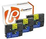 Bubprint 3 Schriftbänder kompatibel für Brother TZE-631 TZE 631 für P-Touch 1280 2430PC 2730VP 3600 9500PC 9700PC D400VP D600VP H100LB H105 P700 P750W
