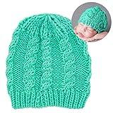 Zoylink Baby Mütze Einfarbig Gestrickte Säuglingsmütze Babymütze Kleinkind Wollmütze