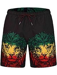 STEAM PANDA Pantalones Cortos Playa de Verano Pantalones Cortos No Hay  Estiramiento Ocio Playa Viajes 41214130f935