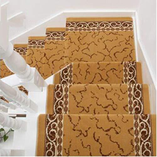 KY&CL Tapis d'escalier en Bois Massif, Non Slip Tapis escalier marches, Convient pour escalier, Salon, Foyer, Chambre à Coucher, etc (25,6 Pouces x 9,4 Pouces),B,1PCS65*24cm