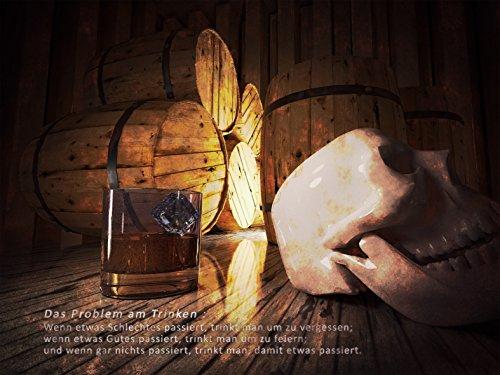 Kunst Druck Bild Alkohol Romantik Holz Fässer nachdenklich Leinwand Poster Tapete Mousepad...