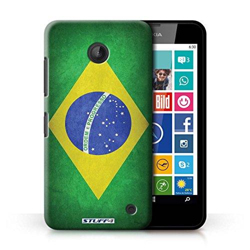 Kobalt® Imprimé Etui / Coque pour Nokia Lumia 635 / Allemagne/allemand conception / Série Drapeau Brésil/brésilien