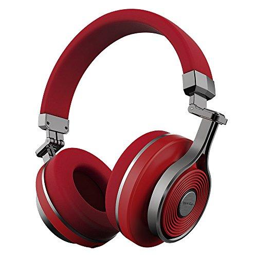Bluedio T3wireless Bluetooth cuffie con microfono integrato per cellulari–rosso
