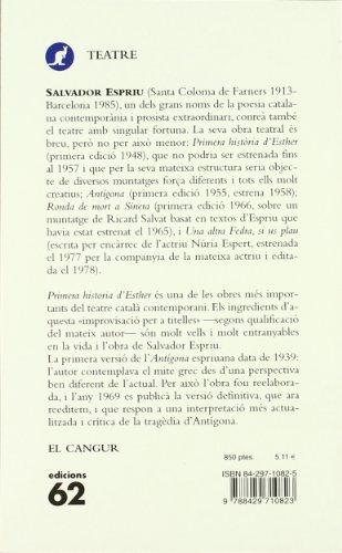 Primera història d'Esther/Antígona (El Cangur (catalan)) por Salvador Espriu