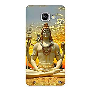 Enticing Shiva Samadhi Print Back Case Cover for Galaxy A5 2016