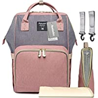 f72167bed11eb Amazon.co.uk  Pink - Nappy Backpacks   Changing Bags  Baby Products