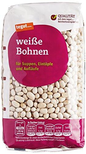 Preisvergleich Produktbild Tegut Weiße Bohnen,  500 g