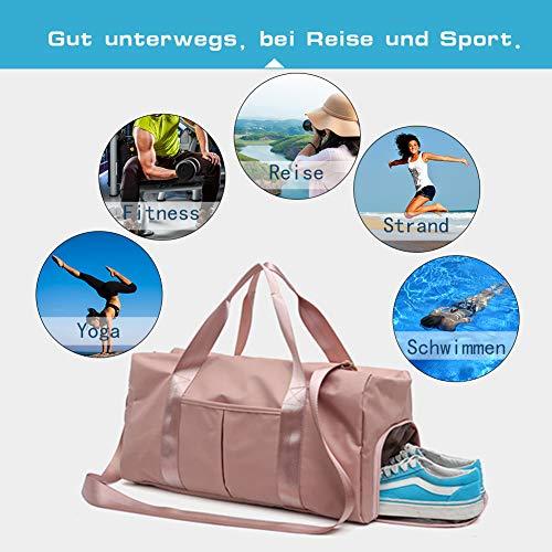 FEDUAN Damen Sport- & Reisetasche, Schwarz - 5