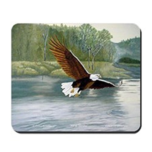 CafePress–American Bald Eagle Flight–Rutschfester Gummi-Mauspad, Gaming Maus Pad (Bald Eagle Artwork)