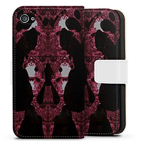 Apple iPhone X Silikon Hülle Case Schutzhülle Thomas Hanisch Rorschach Ornamente Sideflip Tasche weiß