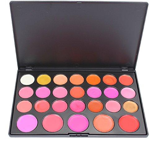 Pure Vie® 26 Couleurs Palette de Maquillage Rouge à Lèvres Lip Gloss Cosmétique Set - Convient Parfaitement pour une Utilisation Professionnelle ou à la Maison