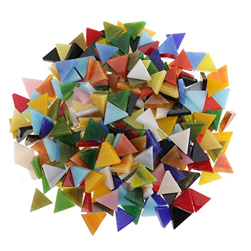 Sharplace Carrelage en Mosaïque en Verre Assort DIY Artisanat Fabrication 12mm Lot de 300pcs - Triangle