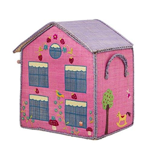 Rice Aufbewahrungskorb Spielzeugaufbewahrung Spielzeugkorb Haus mittel