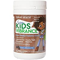 Vibrant Health Super Kids Cool Chocolate - Greens, Vitamins, Probiotics, and Protein, 14 Servings