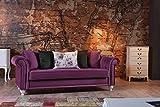 Diamond Samt Couch Sofa 3 Sitzer
