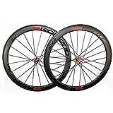 Gimitunus Juego de Ruedas de Carbono Clincher Road Wheelset 3K Twill Bicycle Carbon Wheels