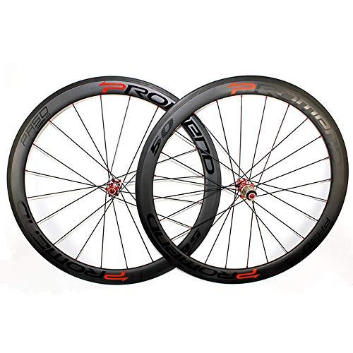 CHENCYC Bike Disc Brake Mag Laufradsatz Clincher Road Carbon Laufradsatz 3K Twill Matte Fahrrad Carbon Rollen Mountainbike-Rad -