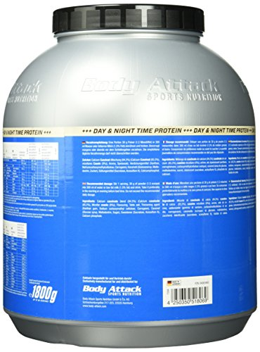 Body Attack Casein Protein 1.8 kg Protein Test24
