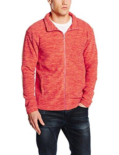 Stedman Apparel Herren Sweatshirt Active Melange Fleece Jacket/ST5060, Orange (Pumpkin Melange), XL (Orange Kapuzen-fleece)