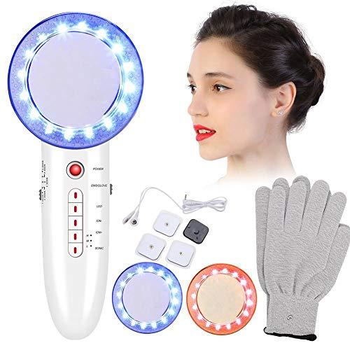 6 in 1 Ultraschall Abnehmen Gerät, Gesichts Hautpflege Maschine Fettabbau Fett Entfernung Körpe Massagegerät Toninggeräte FDA Genehmigt