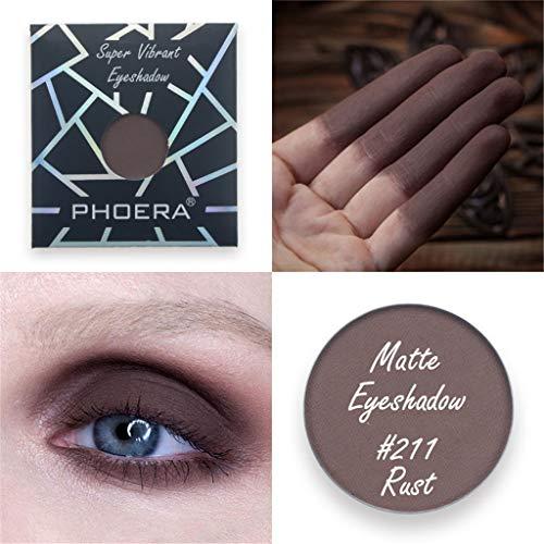 Saingace PHOERA Customize Magnetische Pan-Lidschatten-Kollektion Shimmer Glitter Eye Shadow für Festival Party (Pan Stick Make-up)