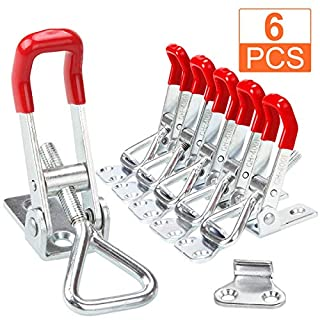STARVAST Adjustable Toggle Clamp, 6Pack 360lbs Holding Capacity Heavy Duty 4001 Style Toggle Latch Hasp Clamp for Door, Box Case Trunk, Smoker Lid, Quick Release Pull Latch, Sturdy Metal Draw Latch