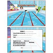 Einladung Kindergeburtstag Schwimmbad Schwimmen Einladungskarten 10