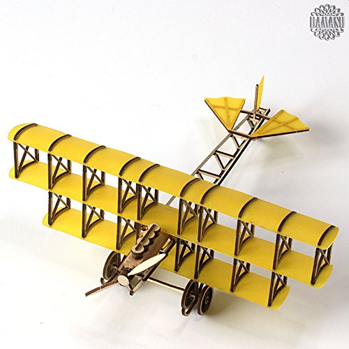 damasu BS_GZFI038 / Bausatz-Figuren Automobile Flugzeug Dreidecker