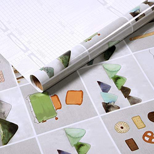 lsaiyy Dicke, ölbeständige, ölabsorbierende Küchen-Papiertapete, selbstklebend, 60 cm x 2 m