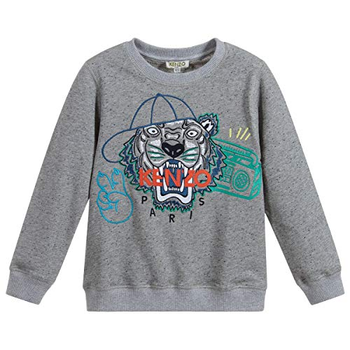 d40df203 Kenzo Kids Tiger Sudadera 8 Years Grey