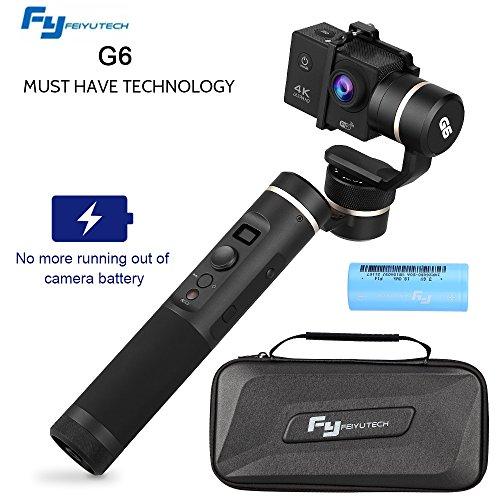 Feiyu G6 Gimbal per Gopro Hero 6, Stabilizzatore Splashproof a 3 Assi per GoPro 7/HERO 5 / HERO 4 / HERO 3 / HERO 3+ / YI 4K / AEE/SONY RXO/Action Camera