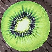3d impresión fresca frutas impreso diseño toalla playa manta de Picnic, playa, redonda, hasta 60pulgadas