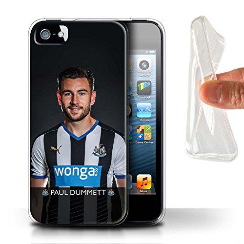 Offiziell Newcastle United FC Hülle / Gel TPU Case für Apple iPhone 5/5S / Pack 25pcs Muster / NUFC Fussballspieler 15/16 Kollektion Dummett