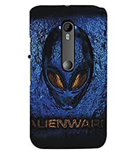 PrintDhaba Alien D-5405 Back Case Cover for MOTOROLA MOTO G3 (Multi-Coloured)