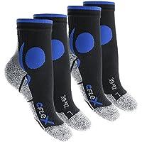 CFLEX Running Socks - Herren Damen - 4 Paar Laufsocken - stoßabfedernd, schützend, unterstützend und klimatisiert - Größen 35-46