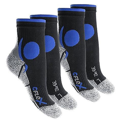CFLEX - Lot de 4 paires de chaussettes de sport - noir/bleu - taille 43-46