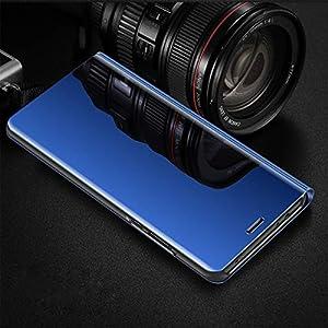 Suhctup Funda Reemplazo para Samsung Galaxy A20E Funda,Flip Tapa Libro Carcasa Modelo Fecha Espejo Brillante tirón del…