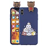 Funluna Coque iPhone XS Max, 3D Chat Motif Ultra Mince TPU Housse Flexible Souple...