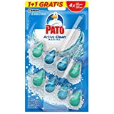 Pato - Active Clean colgador para inodoro, frescor intenso, perfuma y desinfecta, aroma Marine, (duo pack, 2 unidades)