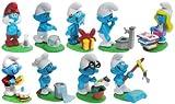 Kinder Überraschung 9 Schlumpf Figuren der Serie 'total verschlumpft' von 2008 (Komplettsätze)