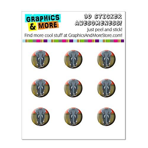 Geometrische African Elefant grau Home Knopf, Aufkleber Apple iPhone (3G, 3GS, 4, 4S, 5, 5C, 5S), iPad (1, 2, 3, 4, Mini), iPod Touch (1, 2, 3, 4, 5) (Ipod Touch 4-knopf-aufkleber)