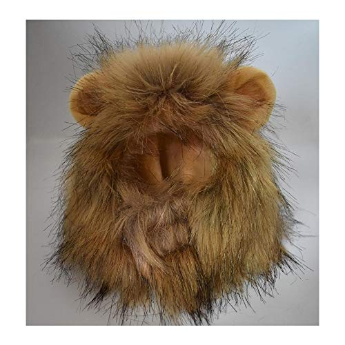 Belle Haar Kostüm - LANGING 1 Stücke Löwe Haar Kopfbedeckung für kleinen Hund und Katzen