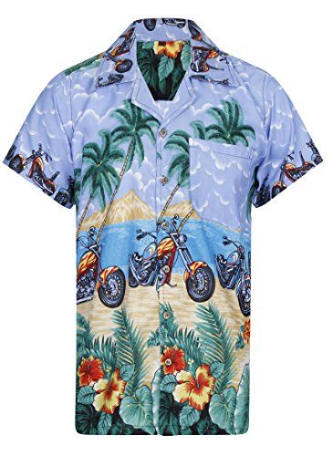 Hawaiian-Shirt-Mens-Loud-Parrot-Aloha-Funky-Hawaii-Holiday-Beach-Motorbike-Classic-Bike-Beer-Stag-Palm-Tree-Cali-Tiki-Taka-Summer-Party-Caribbean-Short-Sleeve-Biker-S-M-L-XL-XXL-5-Colours