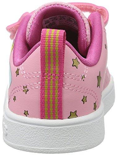 adidas Unisex-Kinder Vs Advantage Clean Cmf Inf Turnschuhe Pink (Rossua/rossua/rosa)