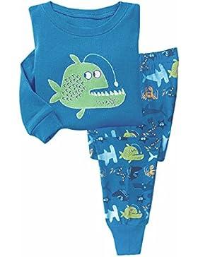 Garsumiss Jungen Schlafanzug Kinder Bekleidung Pyjama Langarm Fisch zweiteilige Schlafanzug 92 98 104 110 116...