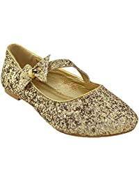 ebb199ef8211 ESSEX GLAM New Womens Pumps Flat Bow Glitter Ladies Ballet Ballerina Dolly  Bridal Shoes Size 3