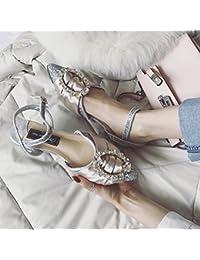 GAOLIM Zapatos De Mujer De Verano Para Taladrar Con Agua Con Poca Boca Zapatos Mujer Zapatos Bajos De Punta Plana...