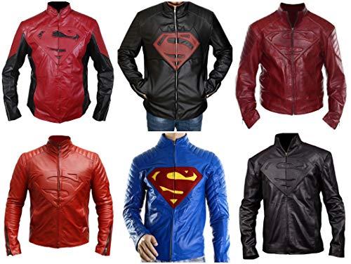 Anspruchsvolle Batman Vs Superman Dawn of Justice Jacke-5xl (Leder Kastanienbraun Jacke Herren)