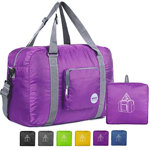 WANDF Foldable Travel Duffel Bag Super Lightweight for Luggage, Sports Gear or Gym Duffle, Water Resistant...